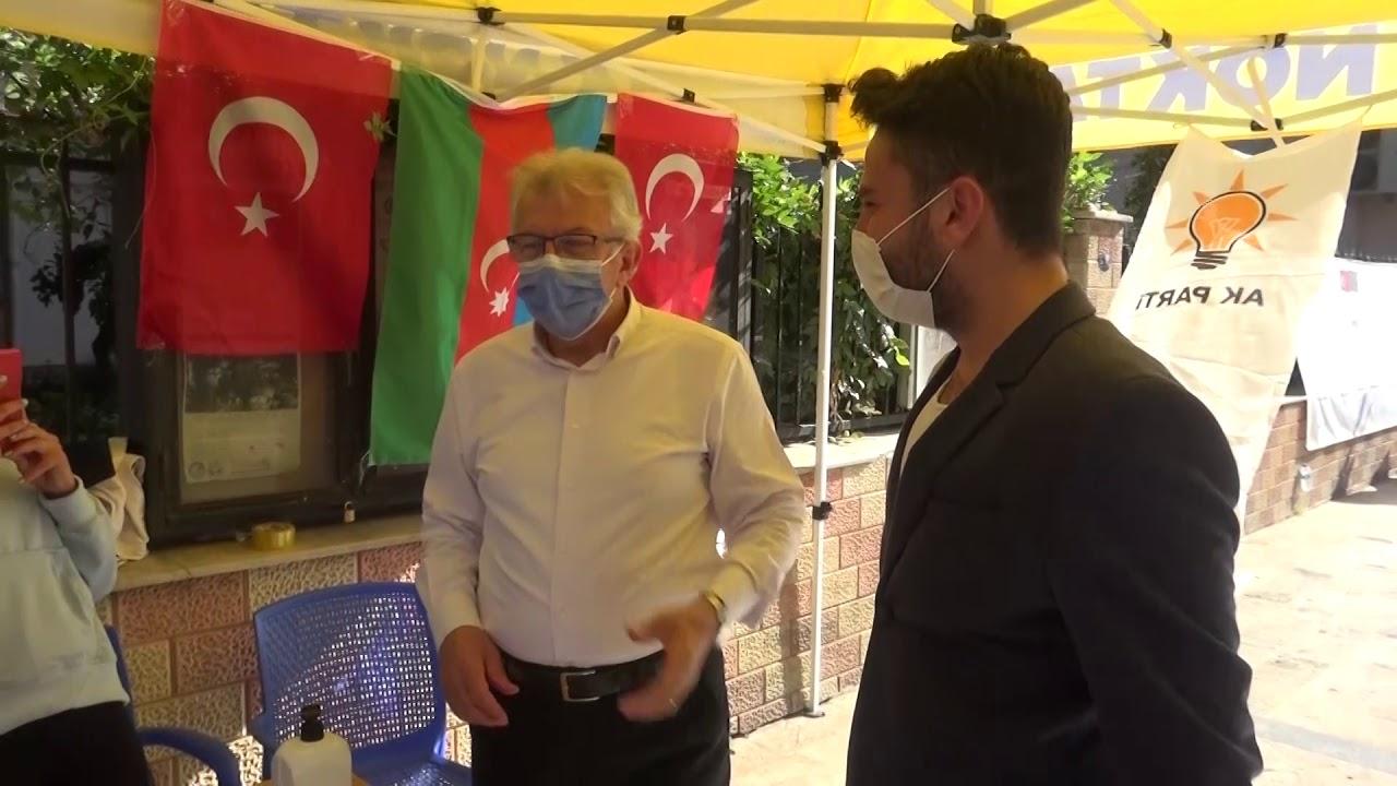 AK Partililerle bir araya geldi