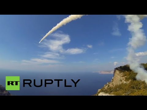 RAW: Russia tests Bastion coastal defense systems off Crimea