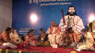 Sri Nedunuri krishnamurthy at 380th Bhadrachala Ramadasa Jayanthi Feb 2013