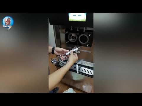 HM716 how to clear for soft ice cream machine & frozen Yogurt machine