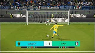 PES 2018   SWEDEN vs ITALY   Penalty Shootout   Gameplay PC