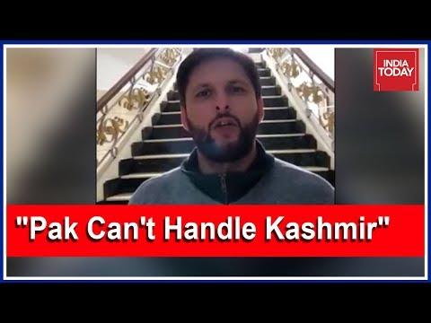 Shahid Afridi Embarrasses Imran Khan's Pak Government On Kashmir