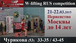 21-22.03.2015.CHURIKOVA-53.(33,35/43,45).Moscow Championship to 14 years.