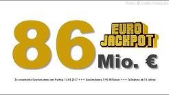 Eurojackpot Karfreitag 14.04.2017: 86 Millionen im Eurolotto Jackpot
