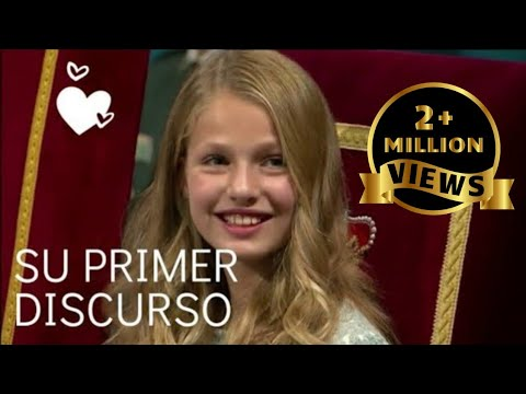 Download Princess Leonor, delivers her first speech   One Million plus views