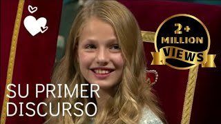 Princess Leonor, Spain's future queen, delivers her first speech ENG SUB