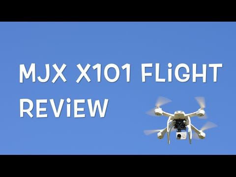 MJX X101 Flight Review - Day and Night Drone Video