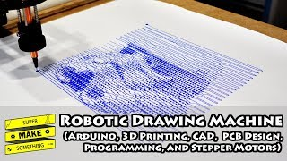 Robotic Drawing Machine (Arduino, 3D Printing, CAD, PCB Design, Programming, Stepper Motors)