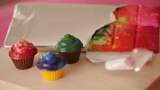 DIY Crayon Cupcakes and Candy Bars