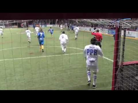 Facing Landon Donovan in Net San Diego Sockers Celebrity Game