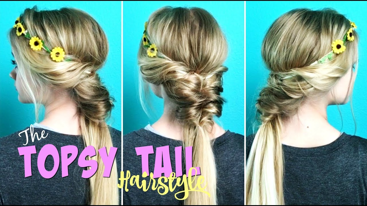 the topsy tail hairstyle - youtube