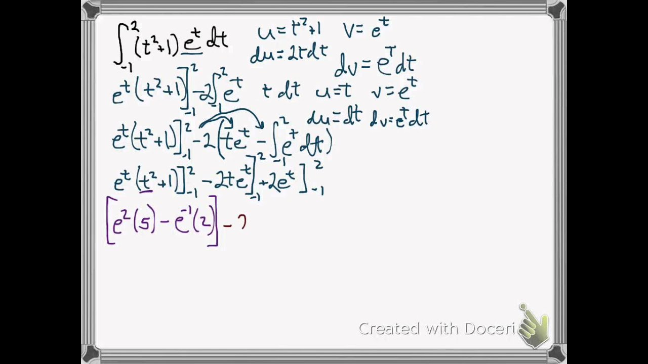 Integration By Parts Polynomial Times E To The X