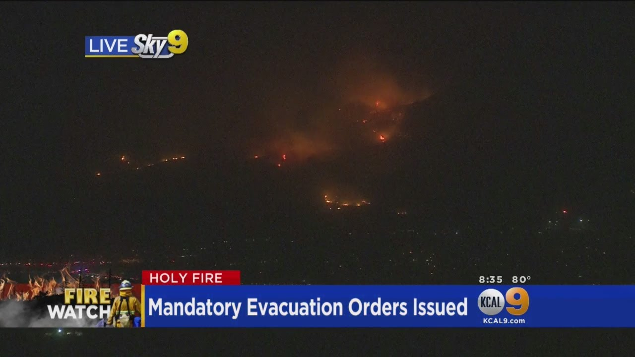 View From Above: Holy Fire Getting Dangerously Close To Homes In Corona