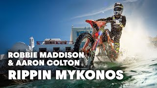 Rippin Mykonos: Riding on Water and Motorbike Freestyle Stunting in Greece