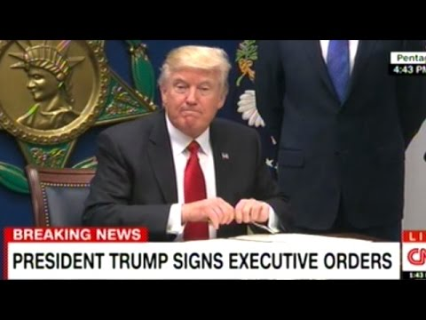 President Trump Signs Executive Order Halting ALL Immigration From 7 Primarily Muslim Countries