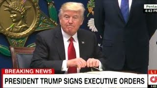 President Trump Signs Executive Order Halting ALL Immigration From 7 Primarily Muslim Countries thumbnail