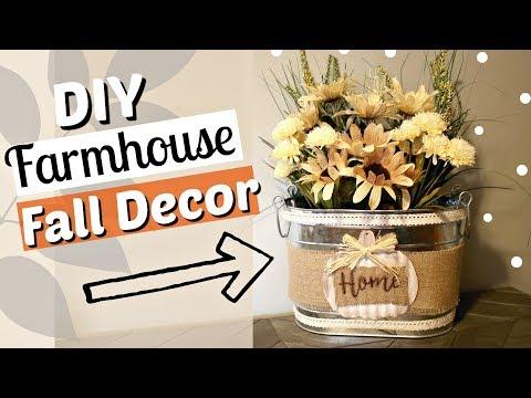 DIY Farmhouse Fall Decor | Dollar Tree Farmhouse Fall Decor | Farmhouse diy decor | KraftsbyKatelyn