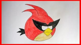 How to draw Super Red Bird from Angry Birds Space