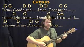 Goodnight, Irene (Traditional) Guitar Cover Lesson in G with Chords/Lyrics