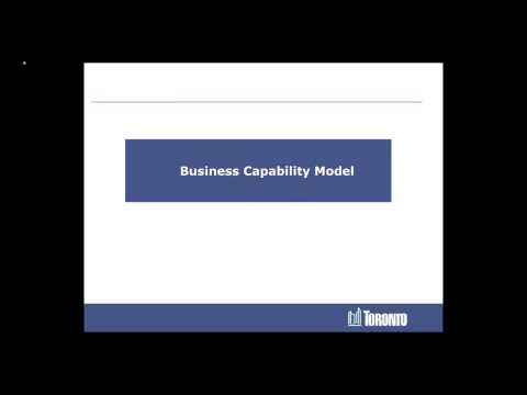 City of Toronto Business Architecture Overview