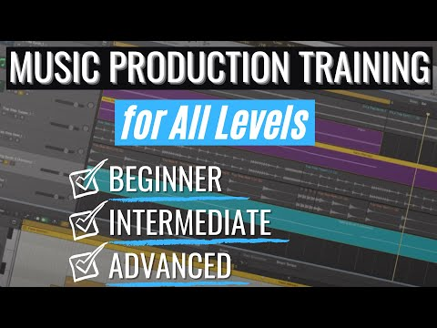 Music Production Training for ALL levels: Beginner, Intermediate and Advanced