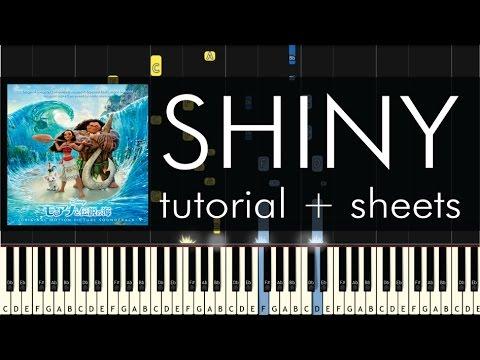 Jemaine Clement - Shiny - Piano Tutorial - Moana Soundtrack
