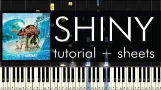 Jemaine Clement - Shiny - Piano Tutorial - Moana Soundtrack