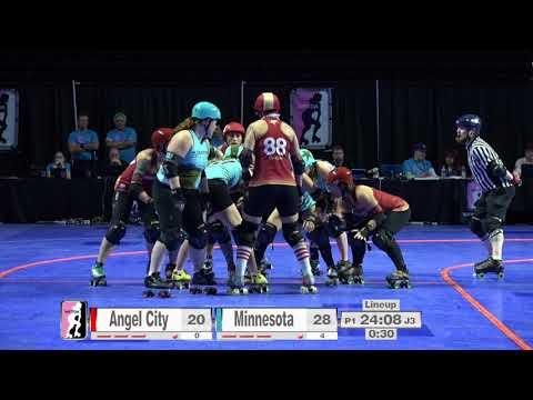 2017 International WFTDA Championships Game 2: Angel City Derby vs  Minnesota RollerGirls