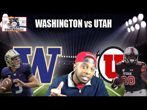 # 4 WASHINGTON HUSKIES(7-0) VS #17 UTAH UTES (7-1) - NCAA FOOTBALL 14 with 2016-2017 ROSTERS