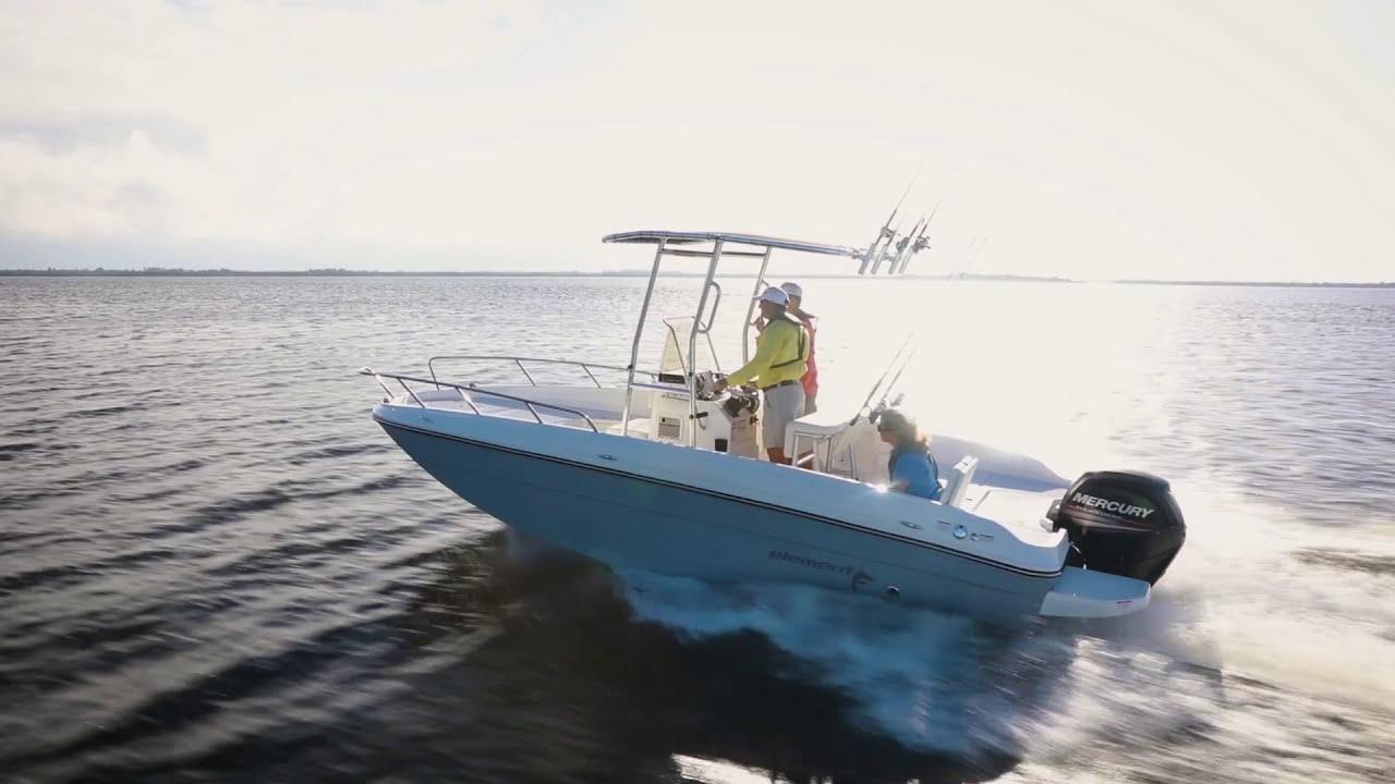 Walkthru video of Bayliner Element F21 center console fishing boat