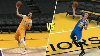 CAN LONZO BALL BEAT STEPHEN CURRY IN A FULL COURT SHOT CONTEST? NBA 2K17 GAMEPLAY!