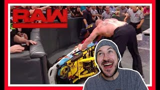 Reaction | BROCK LESNAR Brutally Ambushes ROMAN REIGNS | WWE Raw March 19, 2018