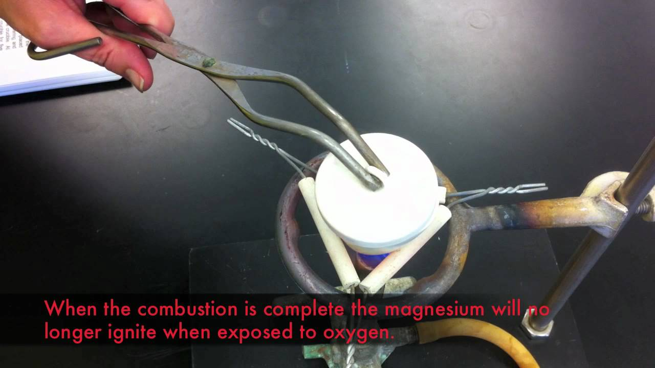 determining the empirical formula of magnesium oxide