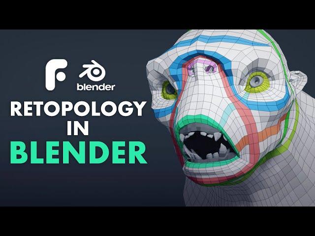 Retopo in Blender - Retopologizing the Face