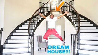 SURPRISING BOYFRIEND WITH OUR DREAM HOUSE PRANK!!! (HE CRIES)