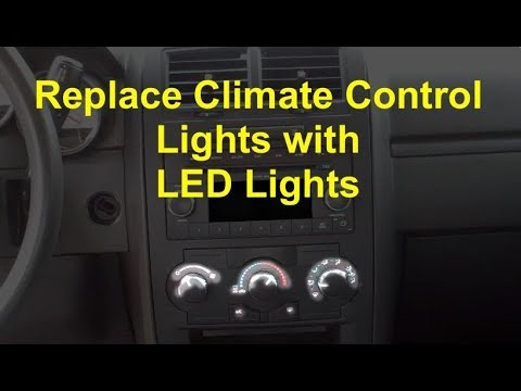Replace burned out Dodge Charger climate control lights with LED