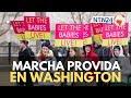 Marcha por la vida: miles de personas llegan a Washington para manifestarse en contra del aborto