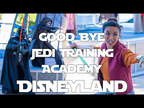 Goodbye Jedi Training Academy - Disneyland