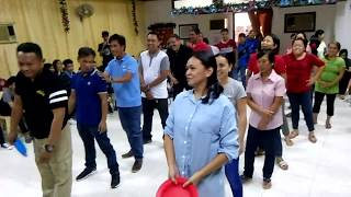 NLCM Church CHRISTmas Party 2017 - Adults' Plate Relay Game