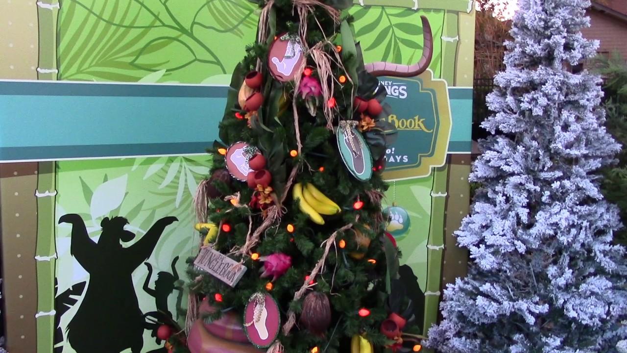 disney springs christmas tree trail new for 2016 holiday display disney world
