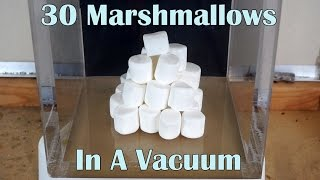 what happens when you put 30 marshmallows in a huge vacuum chamber