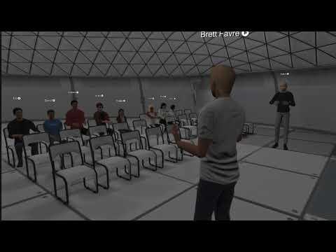 Brett Favre at Benedict Day School VR Class