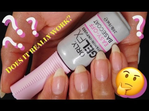 Orly Gel FX - Easy-Off Base Coat Test + Review - YouTube