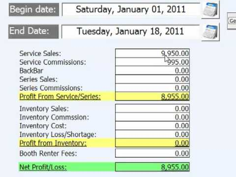 Salon And Spa Profit And Loss Calculator Wwwsalonboss