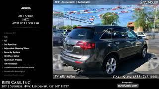 Used 2011 Acura MDX   Rite Cars, Inc, Lindenhurst, NY