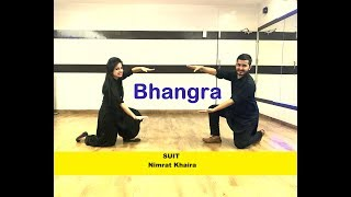 SUIT [ Nimrat Khaira】Easy BHANGRA Choreography || WEDDING PERFORMANCE
