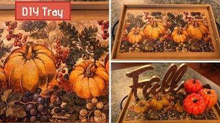 Fall DIY Paint Stir Stick Tray 2018 Easy