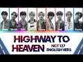 NCT 127   Highway To Heaven [English Vers.] Lyrics Color Coded (Eng)