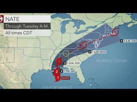 Evacuations, States of Emergency as Hurricane Nate Threatens to Make U.S. Landfall as Category 2