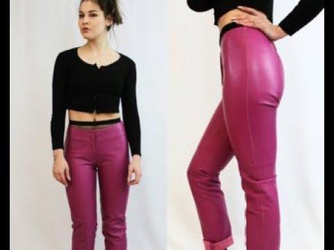 ea616cc1c3cc Purple Leather Pants - YouTube